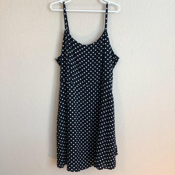 Forever 21 Plus Size Black & White Polka Dot Dress